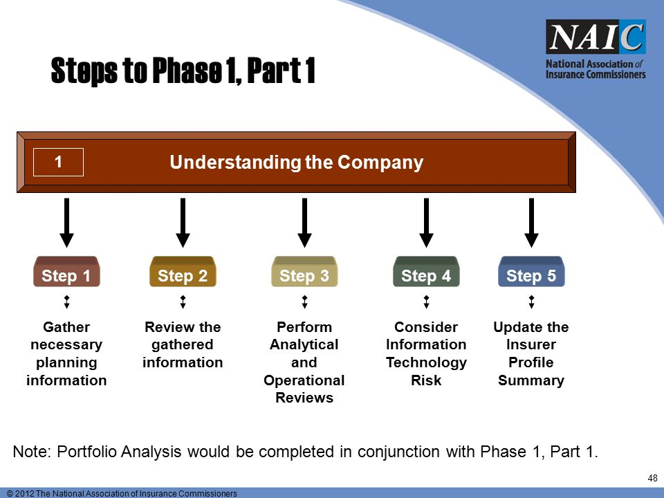 Steps to Phase 1, Part 1 Understanding the Company Step 1 Step 2