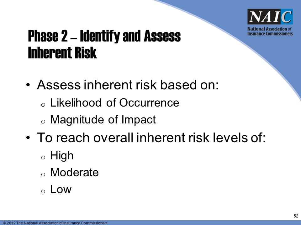 Phase 2 – Identify and Assess Inherent Risk