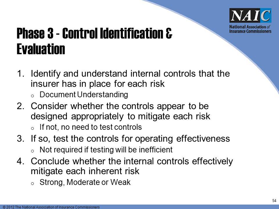 Phase 3 - Control Identification & Evaluation