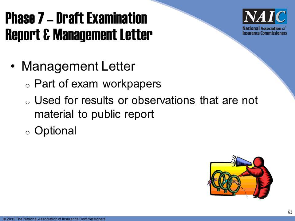Phase 7 – Draft Examination Report & Management Letter