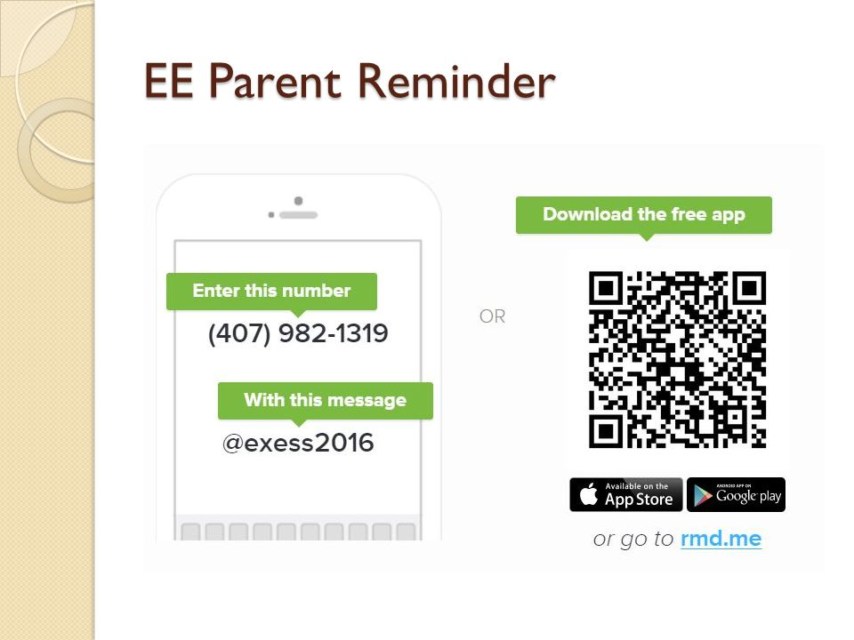 EE Parent Reminder
