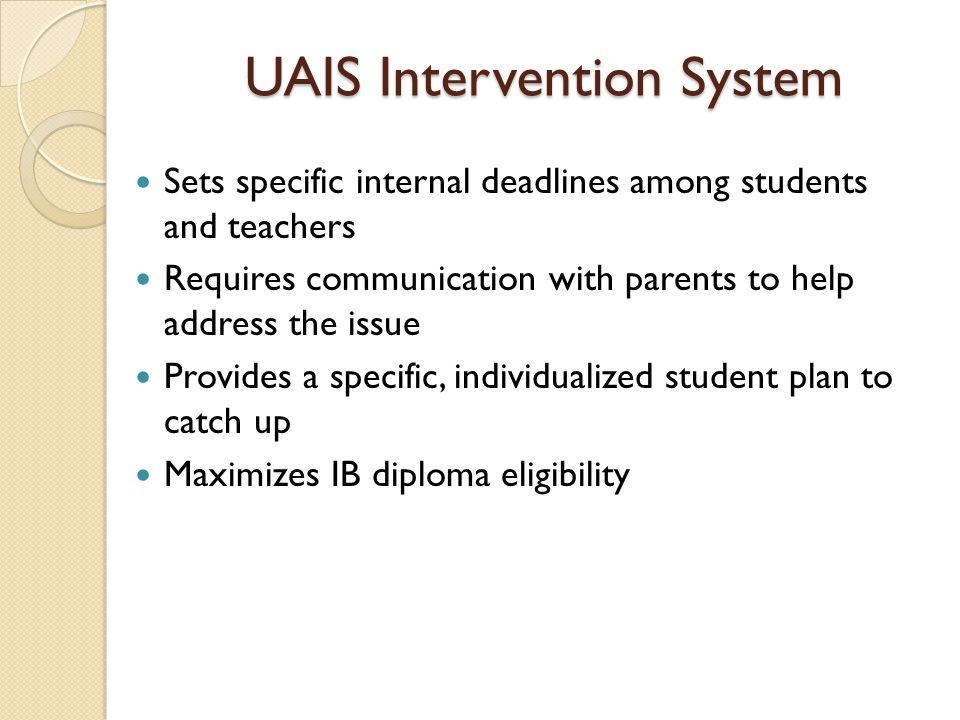UAIS Intervention System