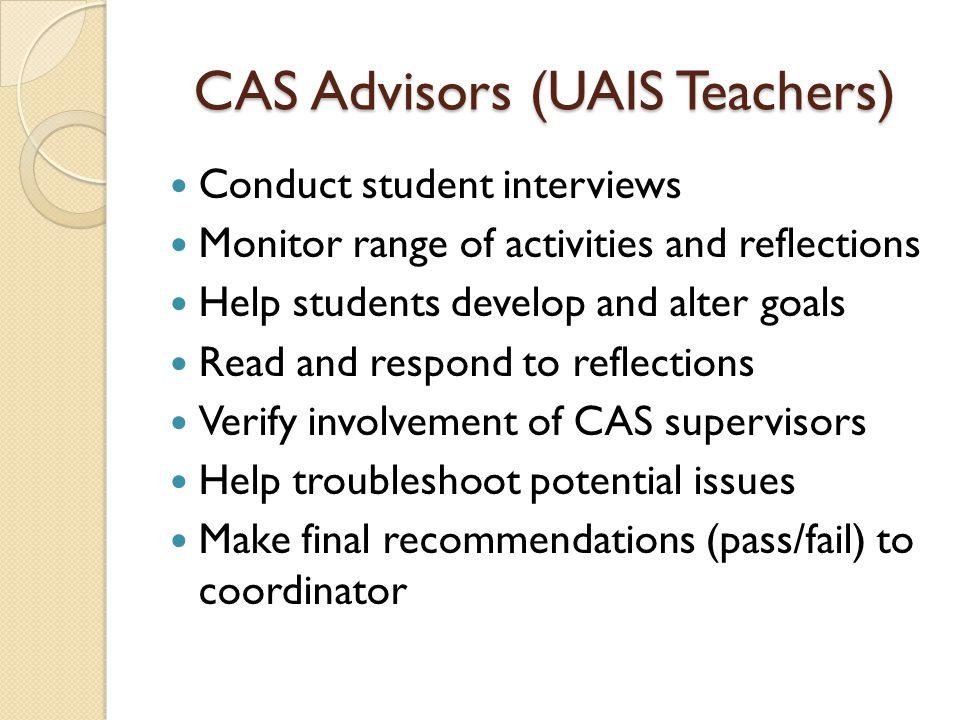 CAS Advisors (UAIS Teachers)