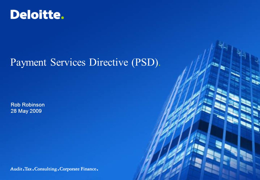 Payment Services Directive (PSD).