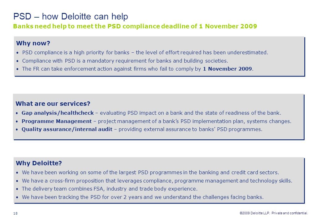 PSD – how Deloitte can help
