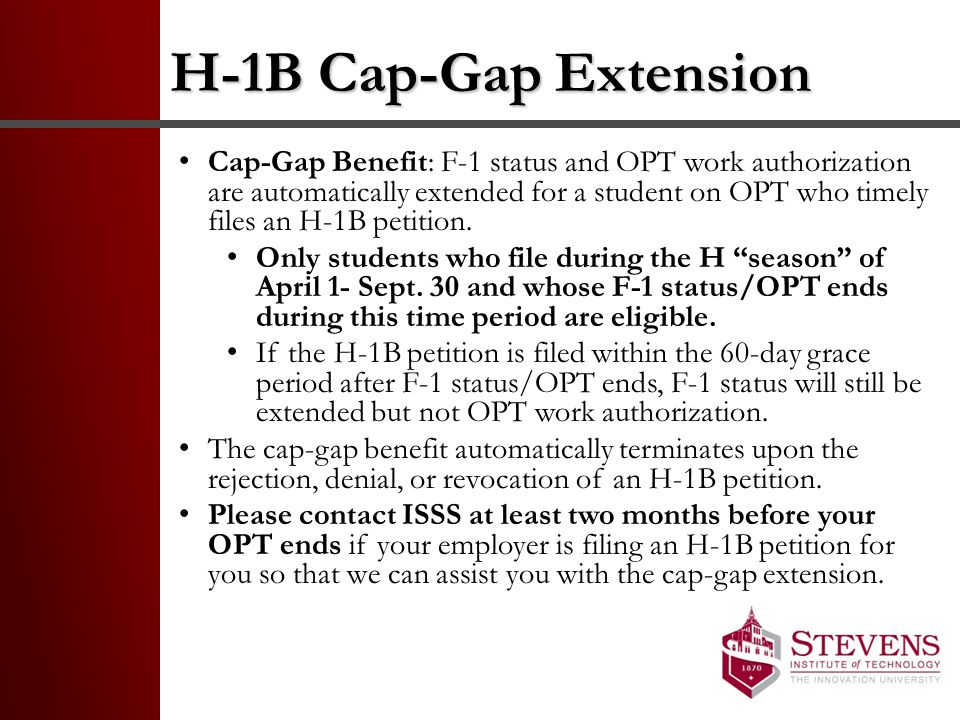 H-1B Cap-Gap Extension