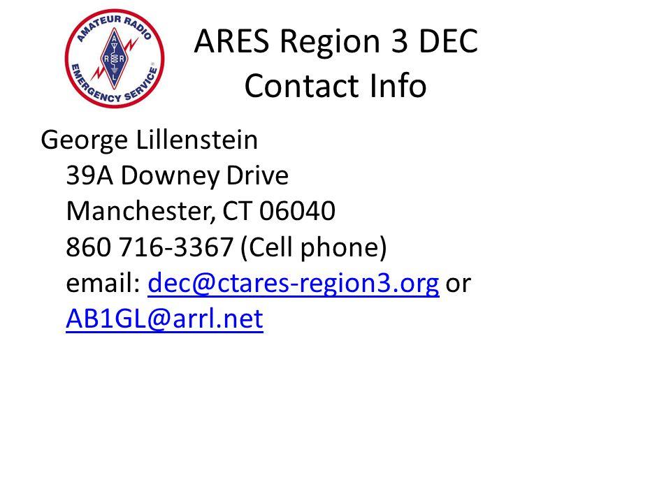 ARES Region 3 DEC Contact Info