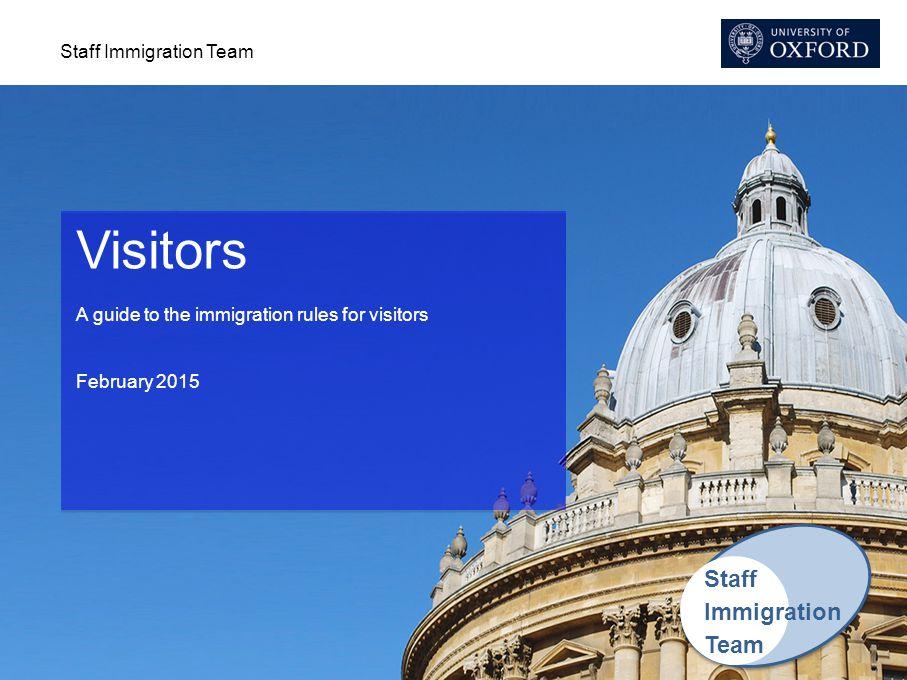 Visitors Staff Immigration Team