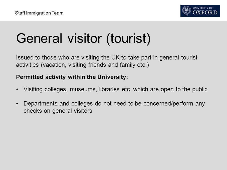 General visitor (tourist)