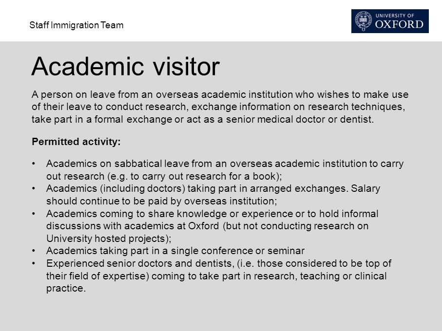 Academic visitor