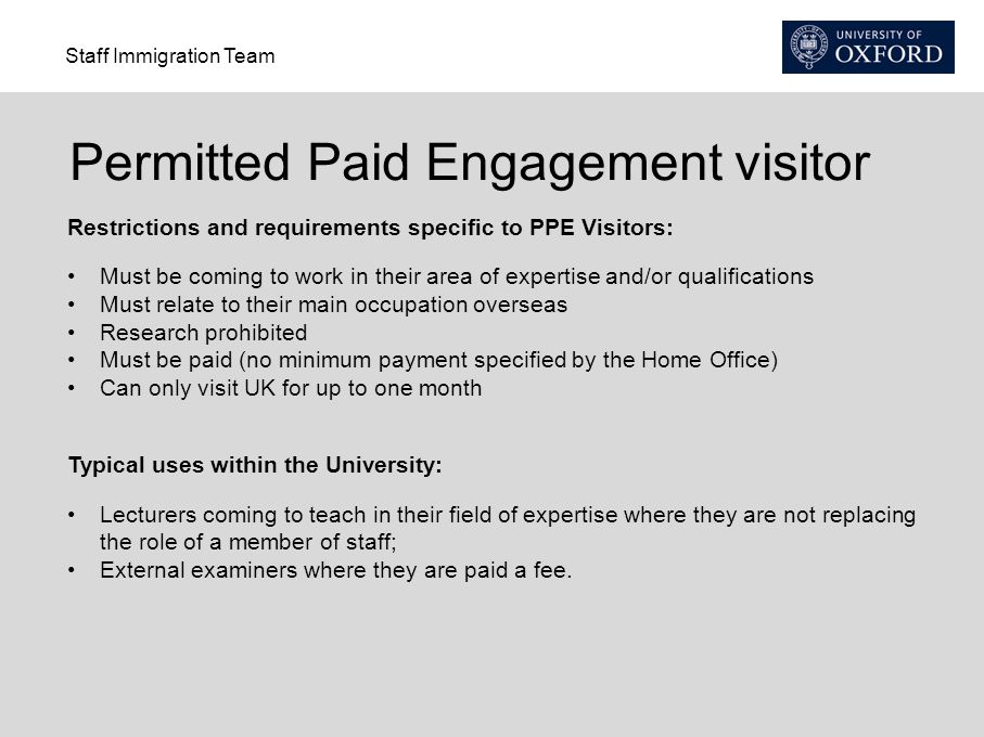 Permitted Paid Engagement visitor