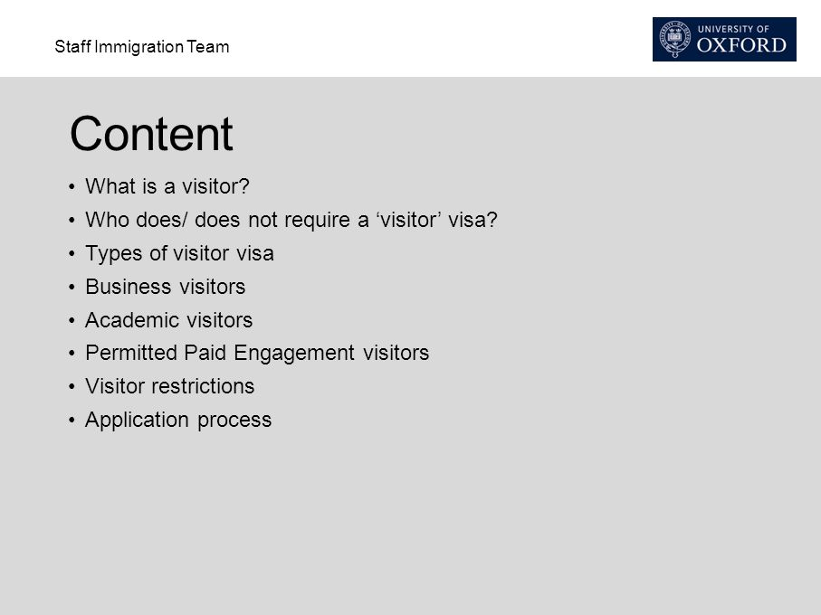 Content What is a visitor