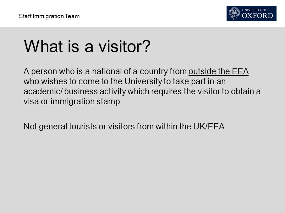 What is a visitor