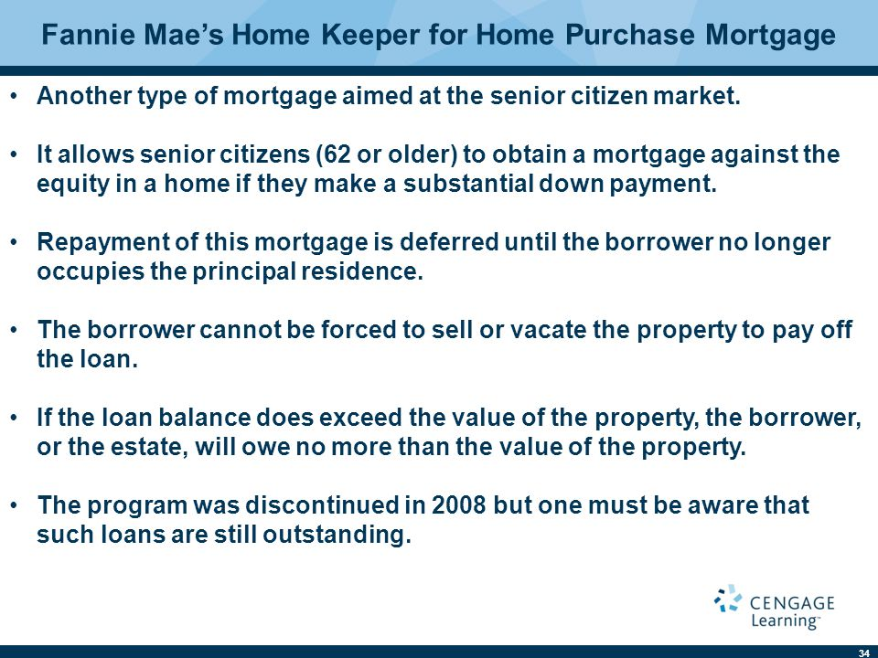 Fannie Mae's Home Keeper for Home Purchase Mortgage