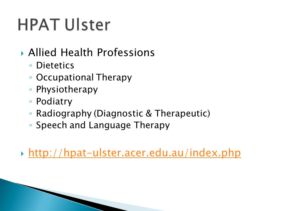 HPAT Ulster Allied Health Professions