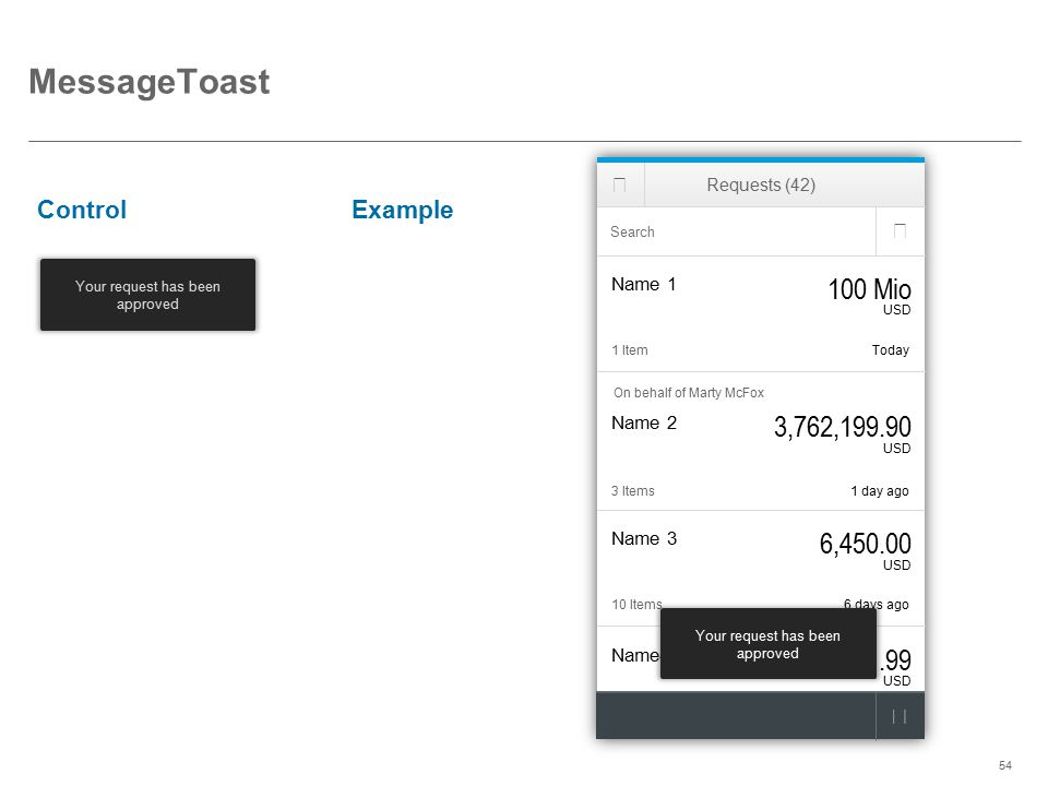 MessageToast 100 Mio 3,762,199.90 6,450.00 1.99 Control Example   