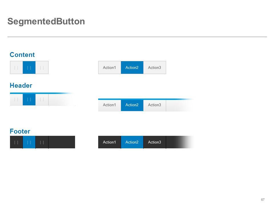 SegmentedButton Content Header Footer          Action1
