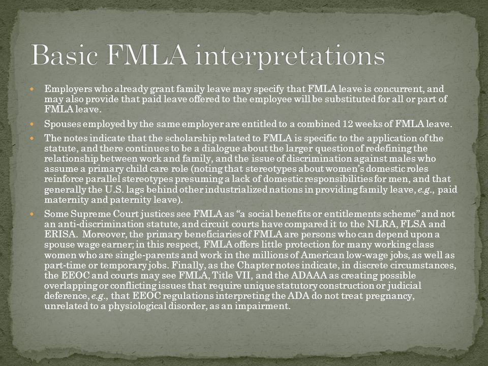 Basic FMLA interpretations