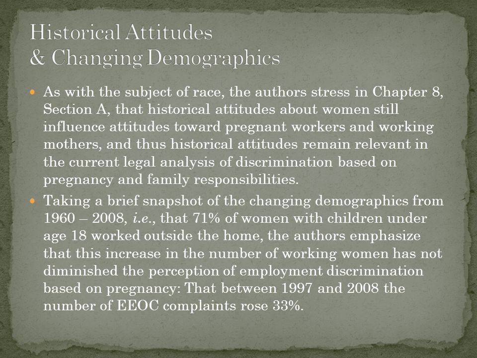 Historical Attitudes & Changing Demographics