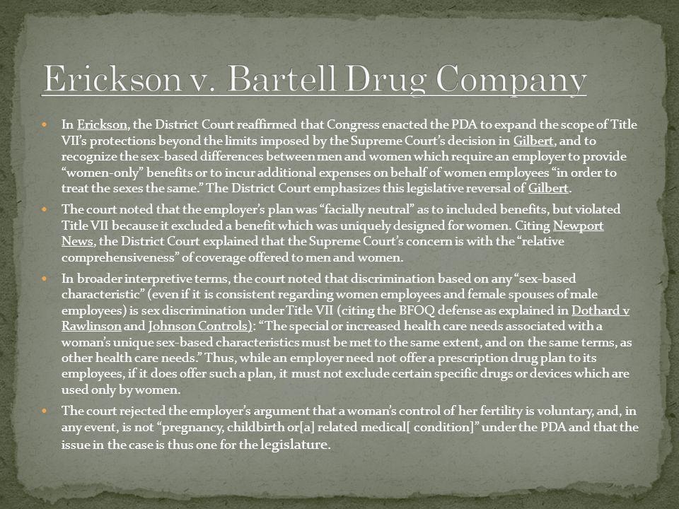 Erickson v. Bartell Drug Company