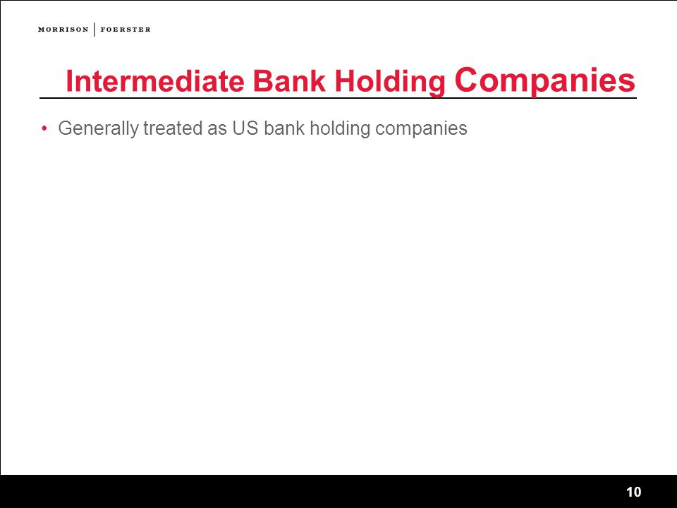 Intermediate Bank Holding Companies