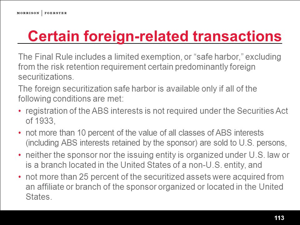 Certain foreign-related transactions