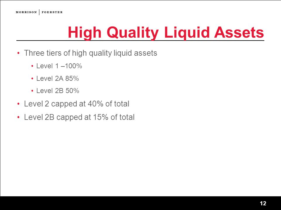 High Quality Liquid Assets