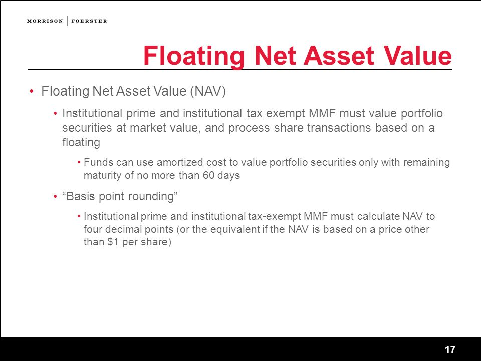 Floating Net Asset Value