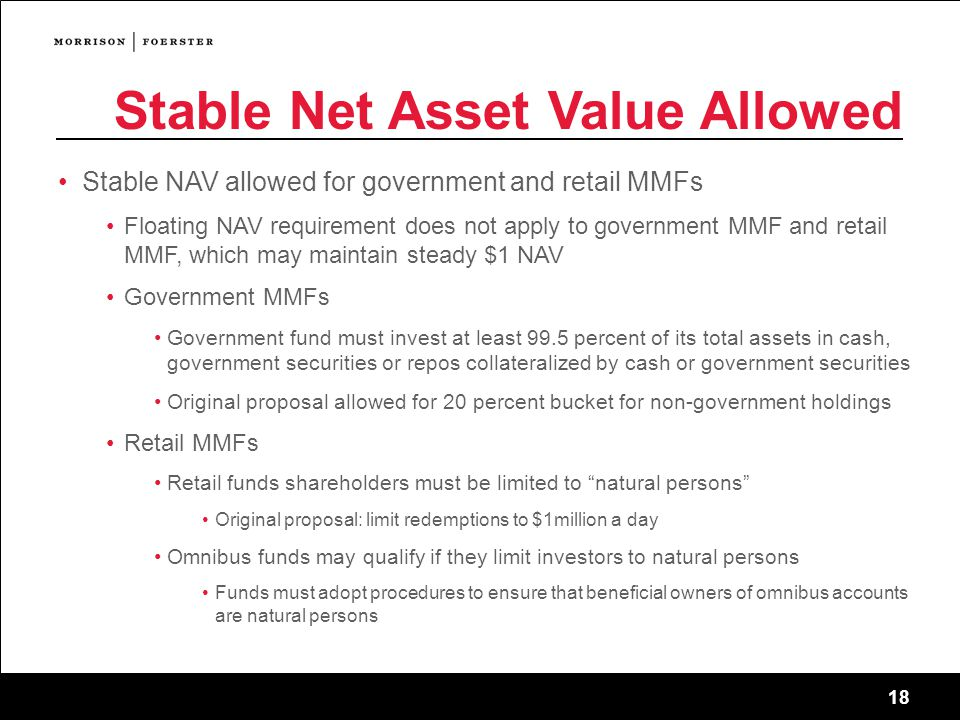 Stable Net Asset Value Allowed