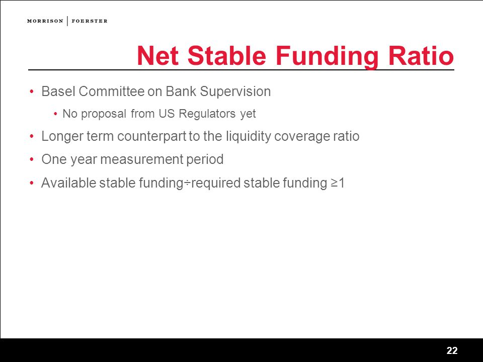 Net Stable Funding Ratio