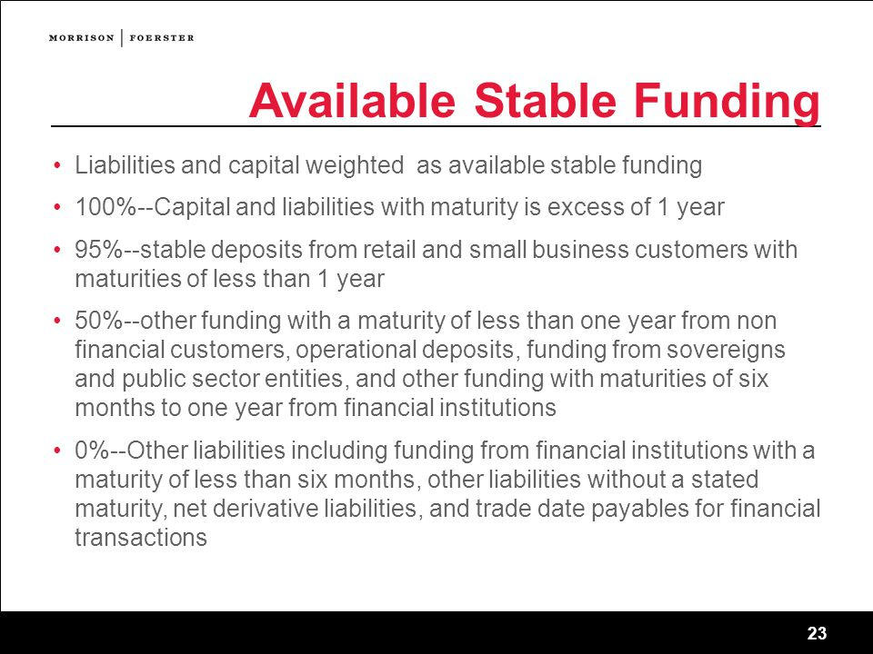 Available Stable Funding