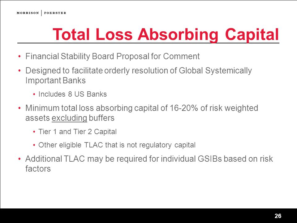 Total Loss Absorbing Capital