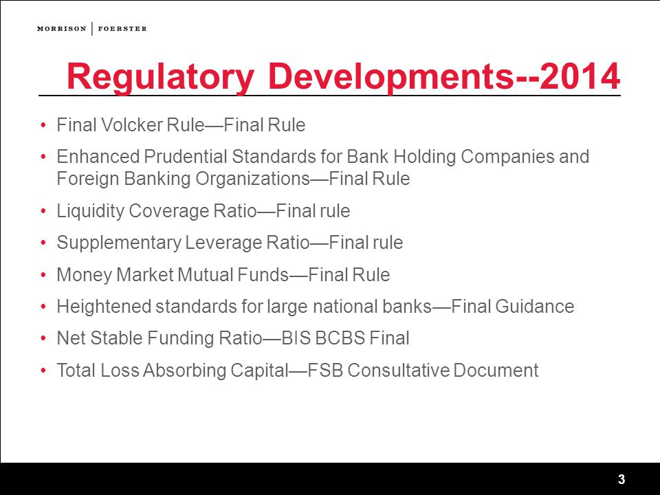 Regulatory Developments--2014