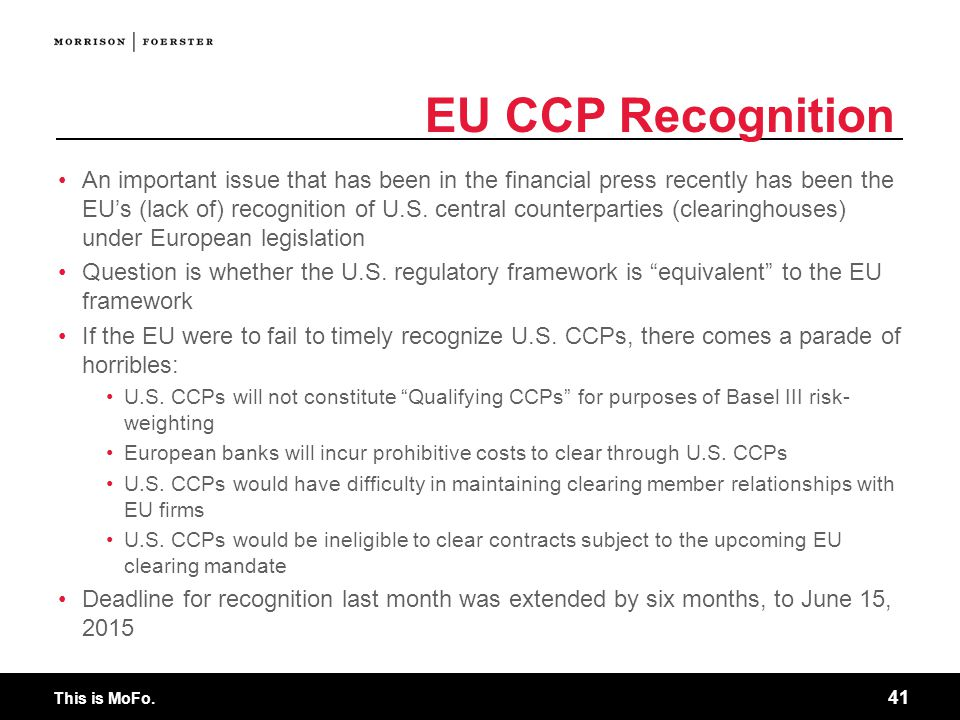 EU CCP Recognition