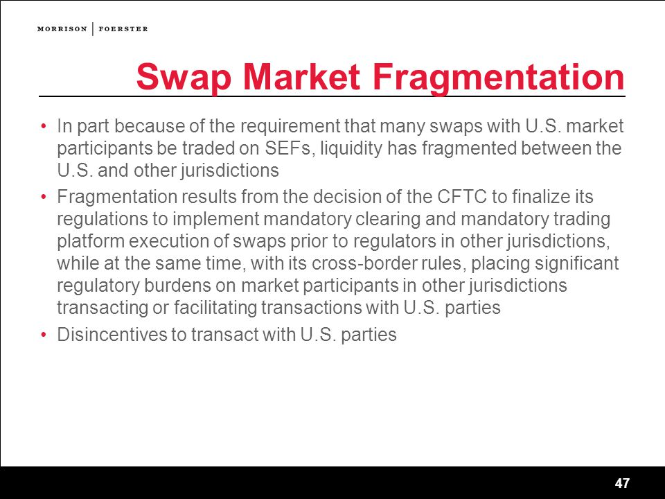 Swap Market Fragmentation
