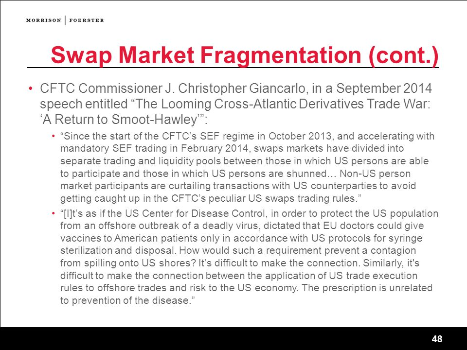 Swap Market Fragmentation (cont.)