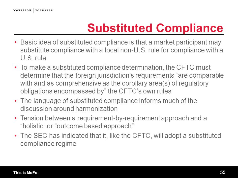 Substituted Compliance
