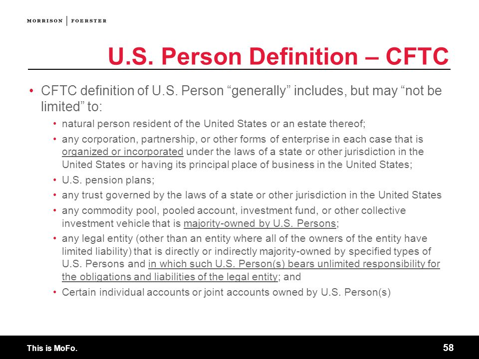 U.S. Person Definition – CFTC