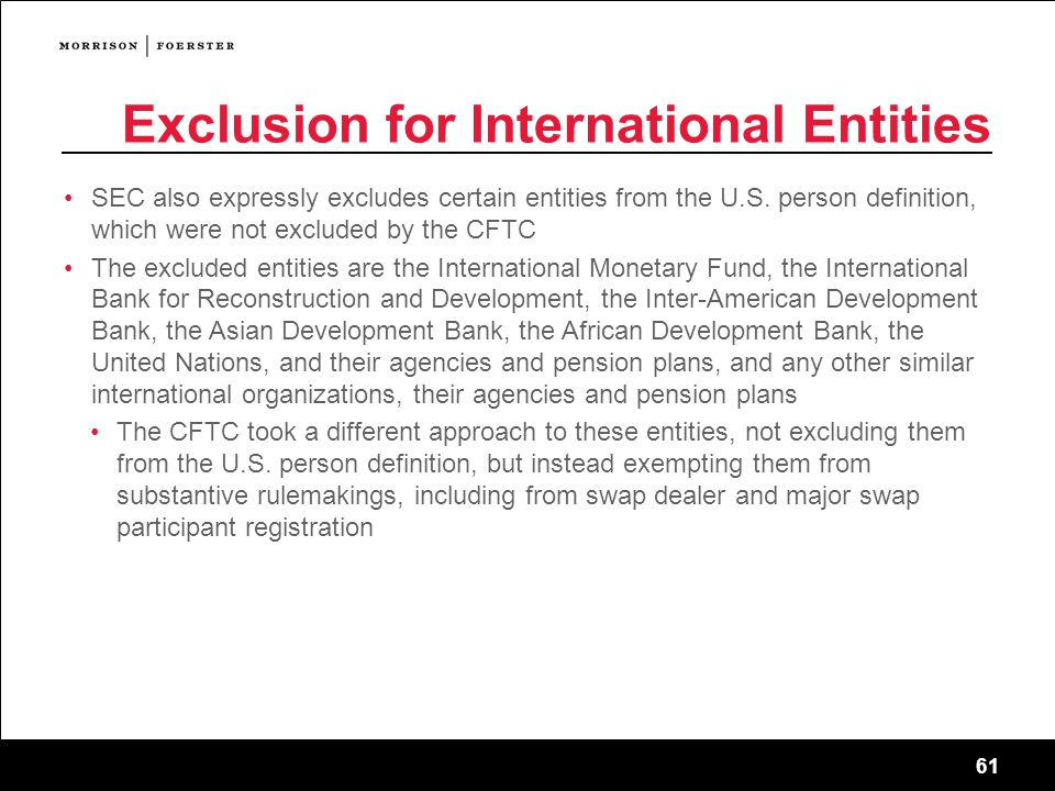 Exclusion for International Entities