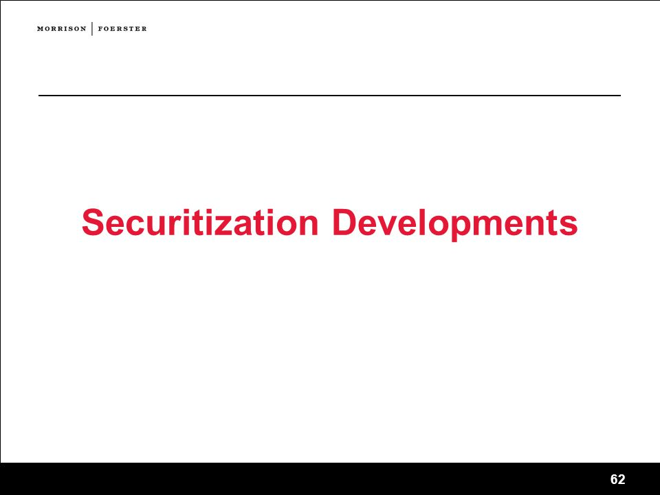 Securitization Developments