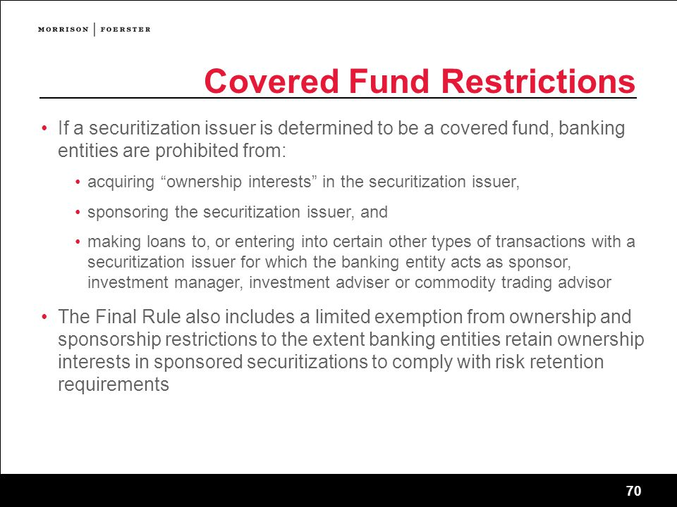 Covered Fund Restrictions
