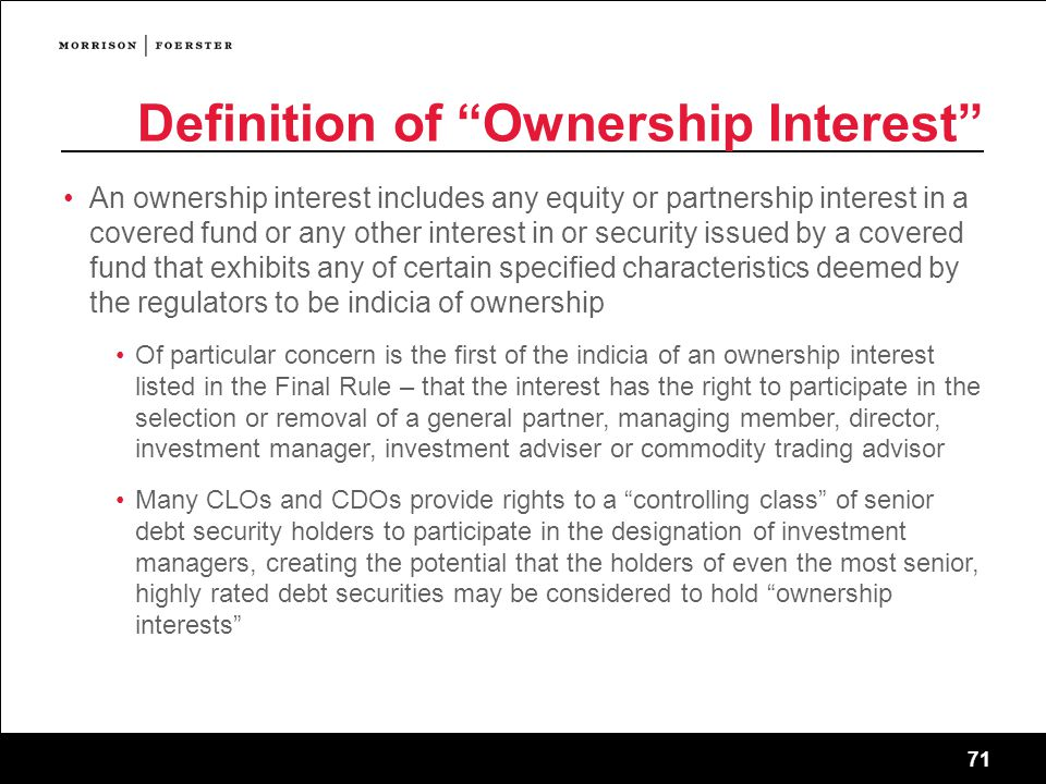 Definition of Ownership Interest