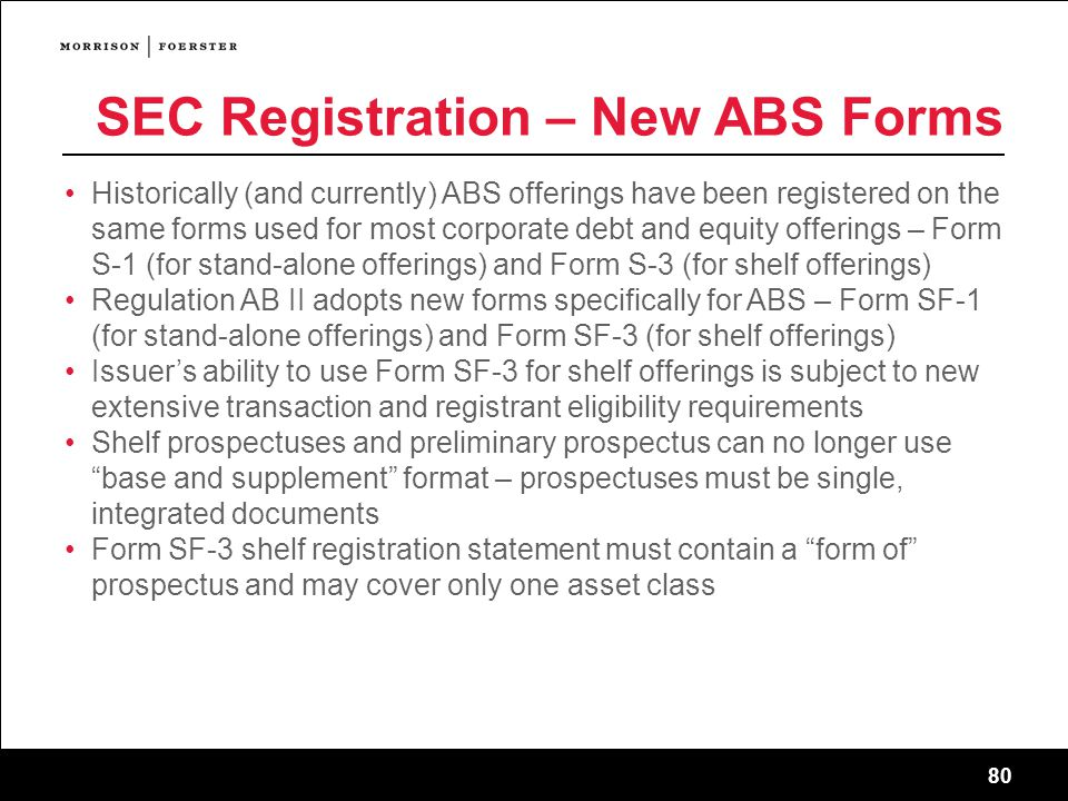 SEC Registration – New ABS Forms