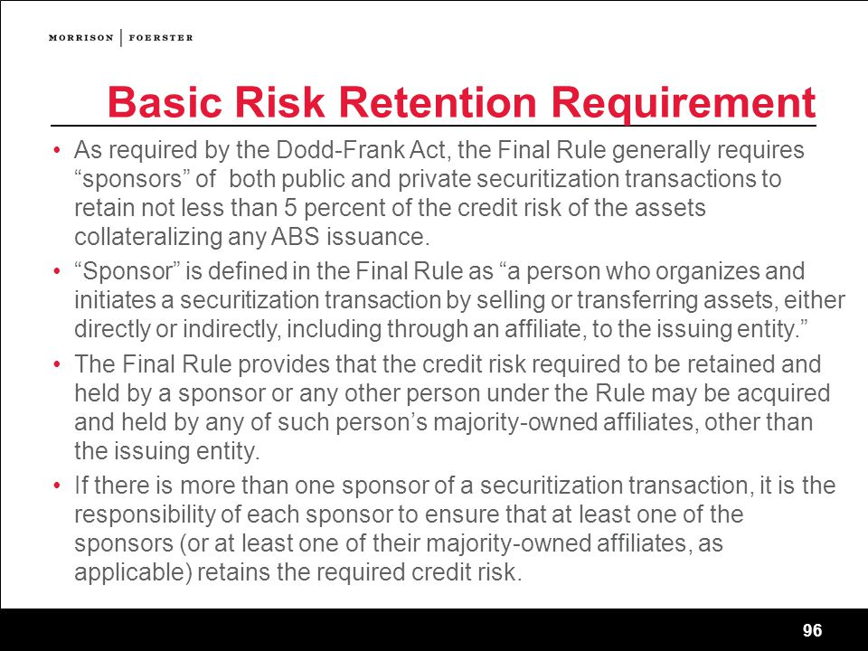 Basic Risk Retention Requirement