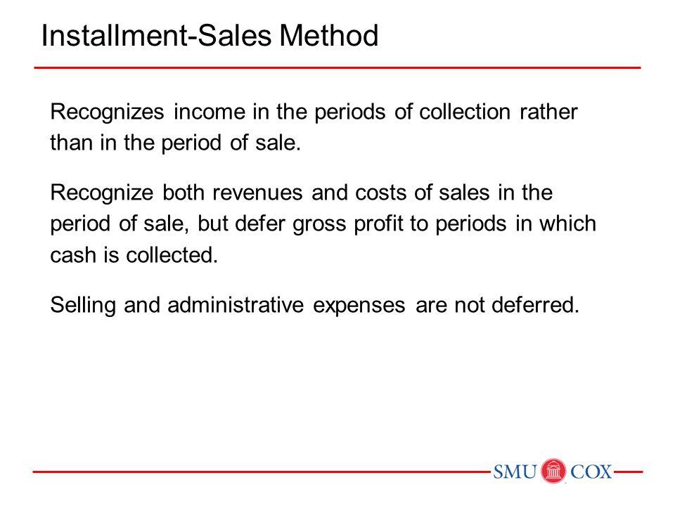 Installment-Sales Method