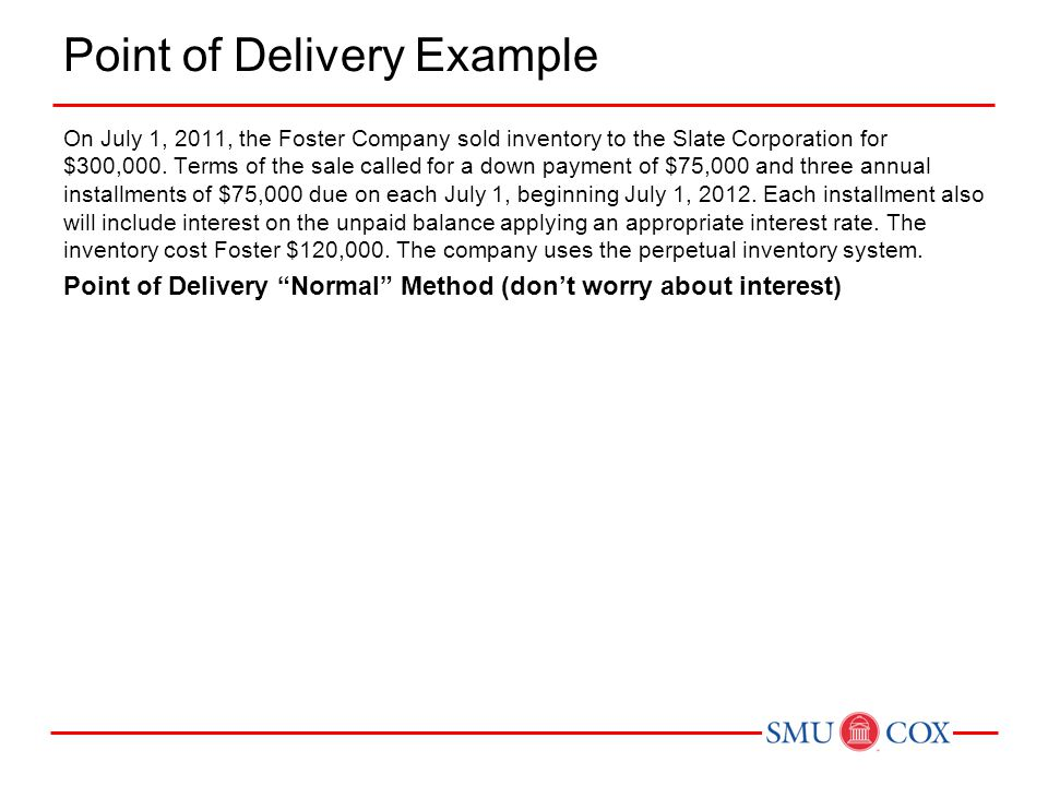 Point of Delivery Example