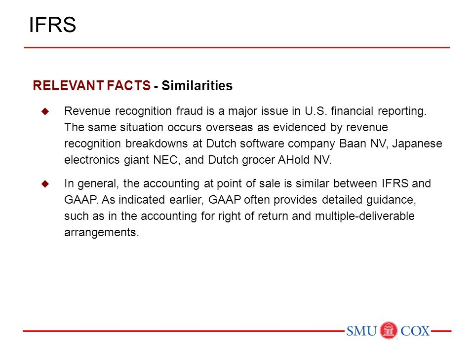 IFRS RELEVANT FACTS - Similarities