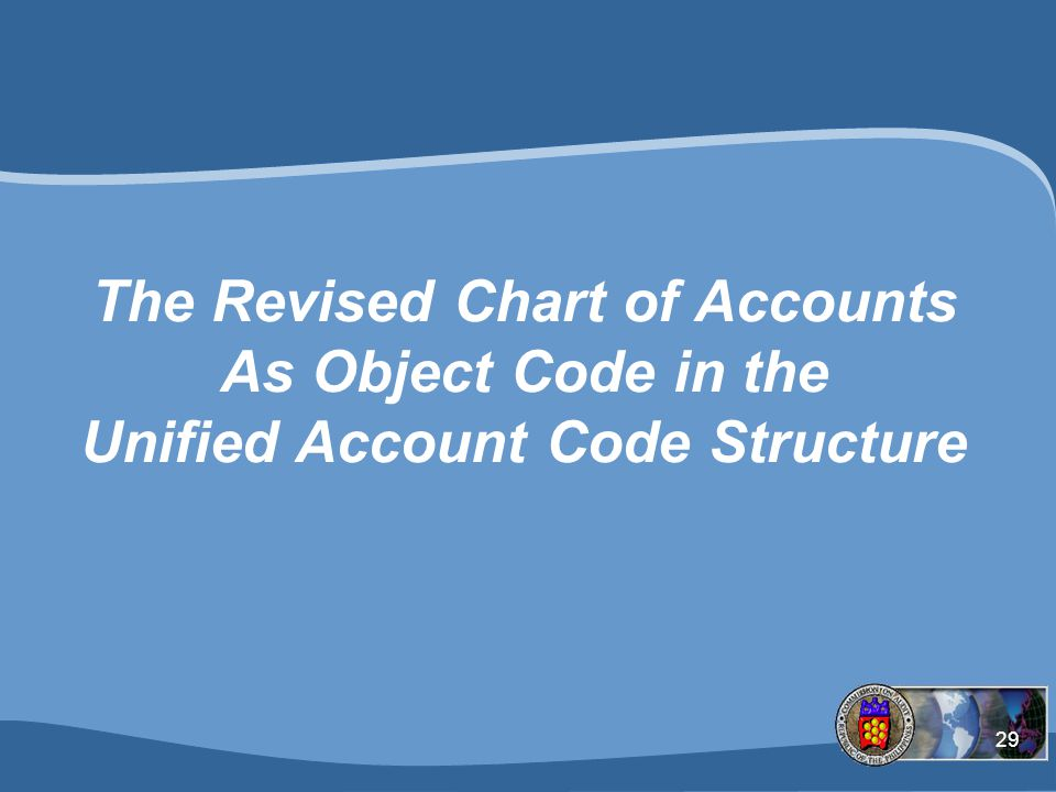 The Revised Chart of Accounts As Object Code in the Unified Account Code Structure