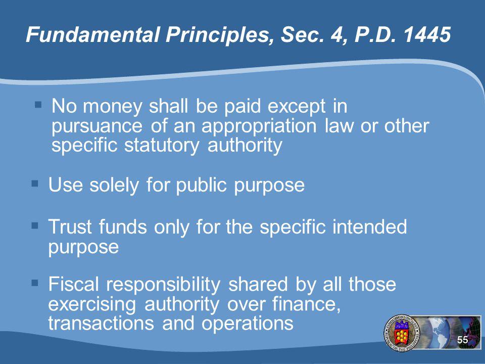 Fundamental Principles, Sec. 4, P.D. 1445