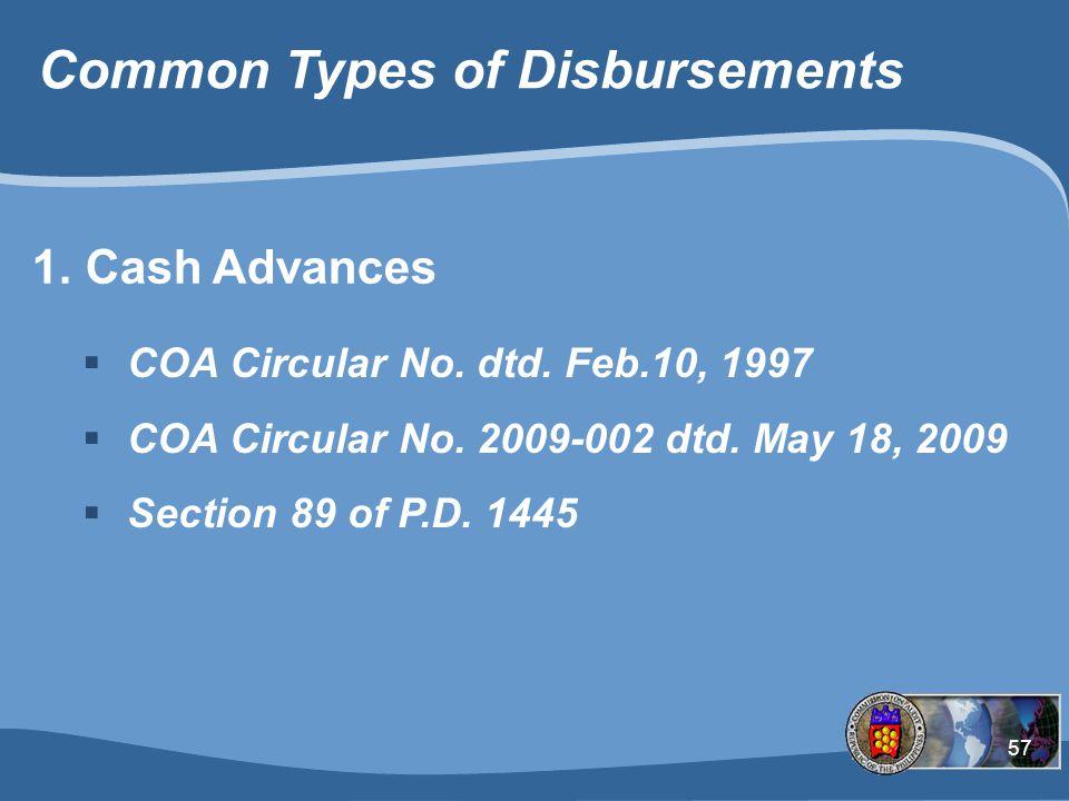 Common Types of Disbursements